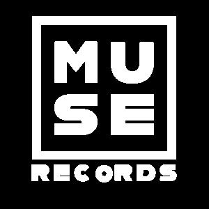 MUSE RECORDS LOGO QUADRATO BIANCO